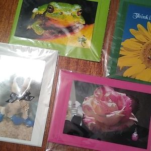 Greeting cards, handmade each with a charm.